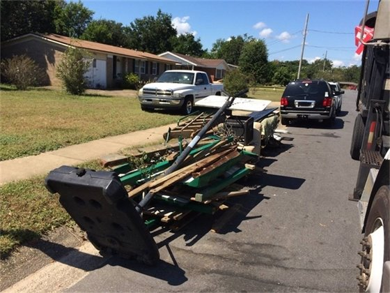 Trash set curbside for pickup