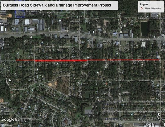 Burgess Road map