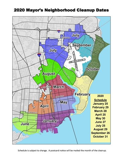 2020 Mayor's Neighborhood Cleanup Map