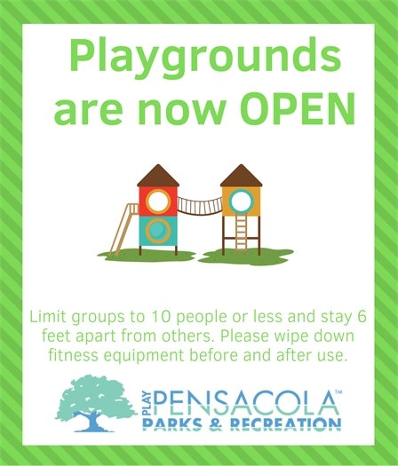 Playgrounds are now open