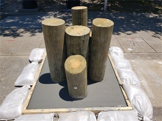 Wooden timber for pelican base