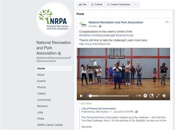 screenshot of facebook showing kids dancing