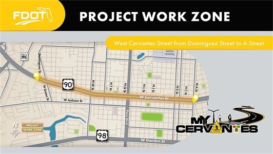 Cervantes Street project map
