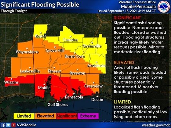 Flooding map 1