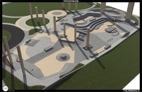 Skatepark rendering