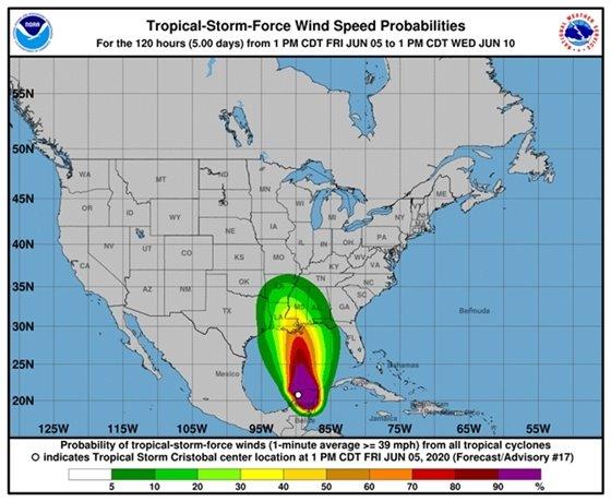 Cristobal forecast