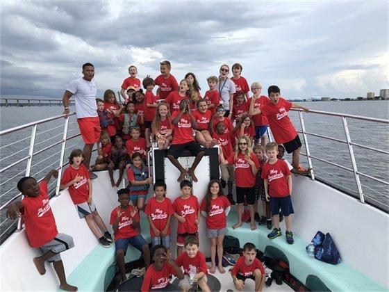 Children on boat