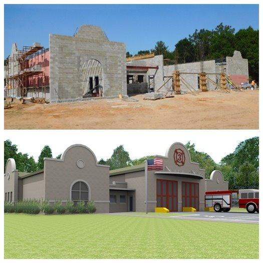 Progress of construction at Fire Station 3 on Summit Boulevard