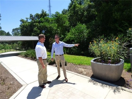 Mayor Ashton Hayward and Public Works Director Derrik Owens