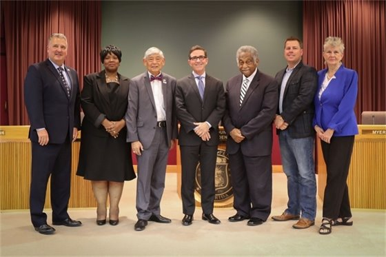 Photo of the city council members