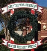 A fire safety wreath