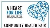A heart for life community health fair logo
