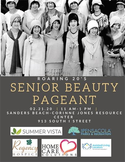 Roaring 20's Senior Beauty Pageant Event Flyer