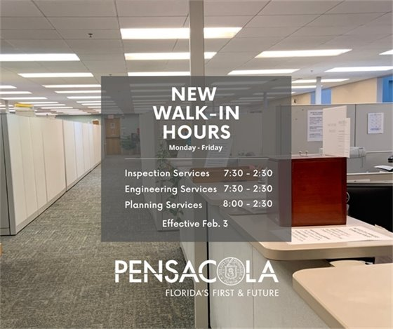 New Walk-In Hours for Inspection Services, Engineering Services, and Planning Services