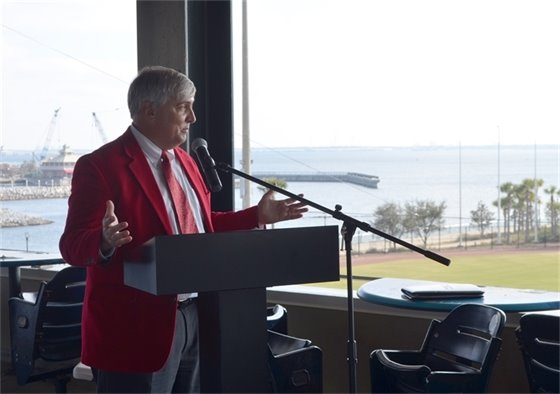 Mayor Robinson speaks at the Greater Pensacola Chamber State of the City event