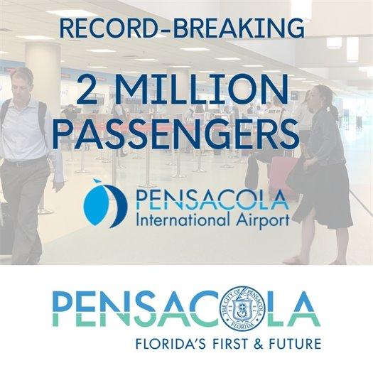 Record-breaking 2 million passengers - Pensacola International Airport
