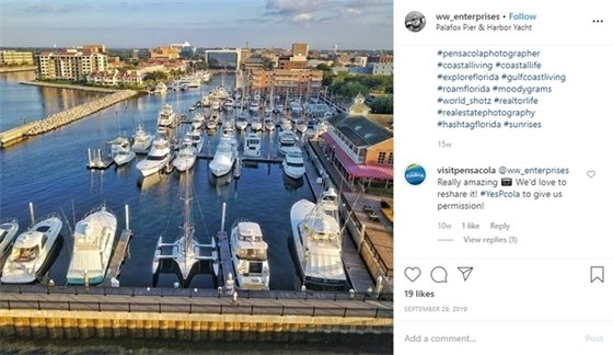 Photo of the week - Palafox Pier and Harbor Yacht