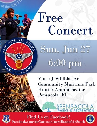 Air National Guard Band of the South Concert Flyer