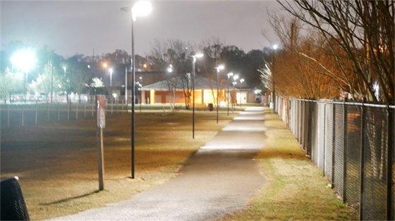 Legion Field street lights