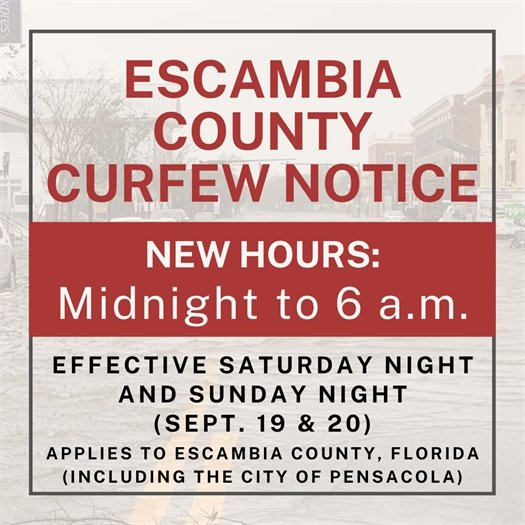 Curfew in effect midnight to 6 a.m. Saturday and Sunday night