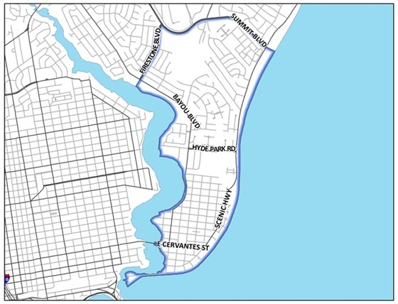 Image of the Feb. map for Mayor's Neighborhood Cleanup.