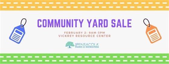 informational flyer on community yard sale