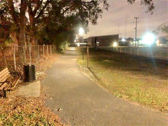 Street lights at Legion Field