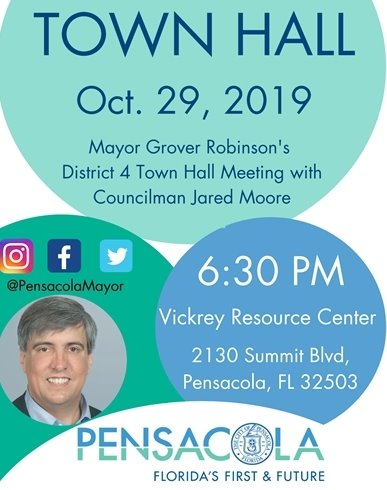informational graphic about the town hall on oct. 29