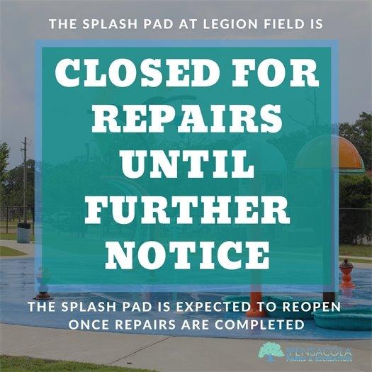 Legion Field Splash Pad Closed Until Further Notice