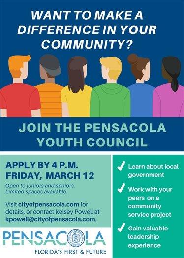 Pensacola Youth Council flyer