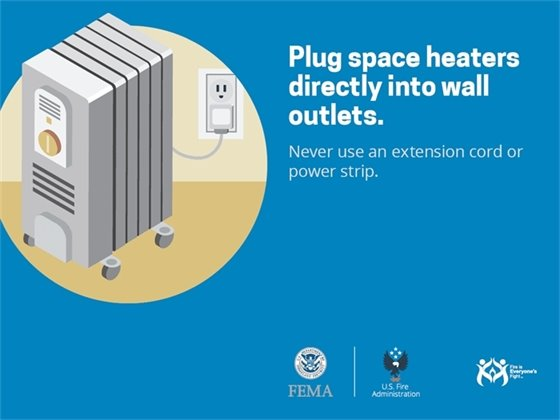 Plug space heaters directly into wall outlets.