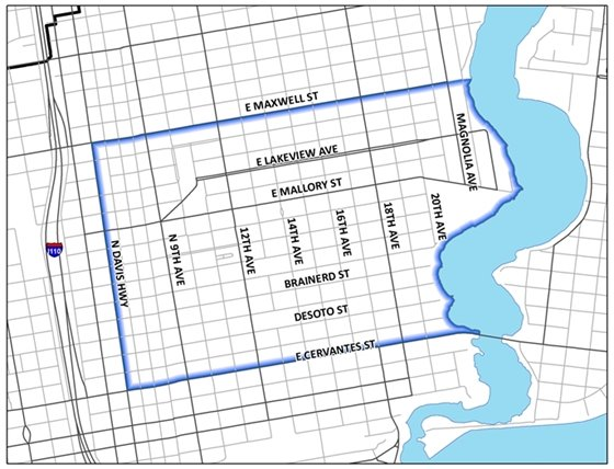 Image of the Mayor's Neighborhood Cleanup map.