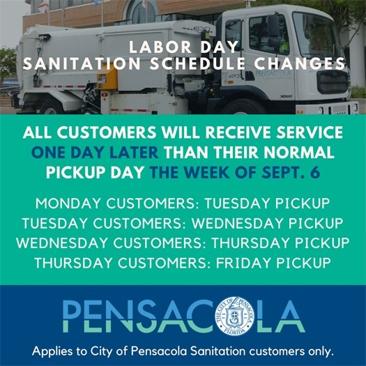 Fourth of July Sanitation Changes