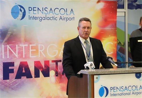 Airport Director Matt Coughlin speaks at Pensacola International Airport