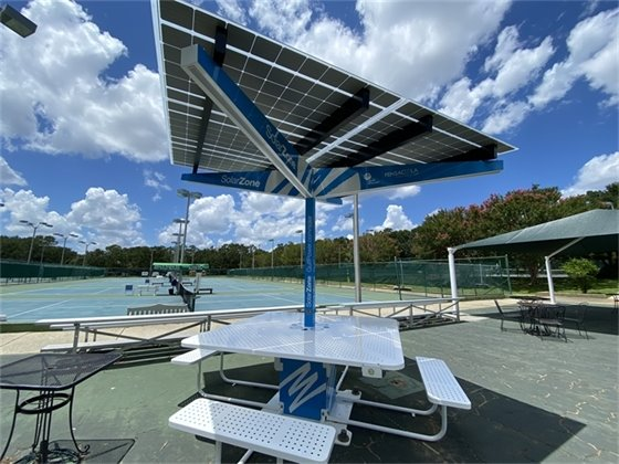 Solar Zone at Roger Scott Tennis Center