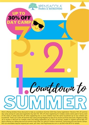 3-2-1 Countdown to Summer Camp with Play Pensacola