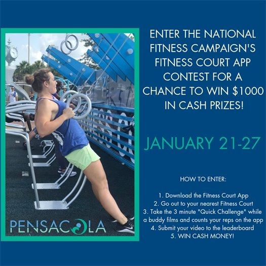 an informational flyer about the national fitness campaign's contest