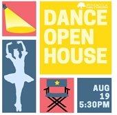 dance open house on august 19 flier
