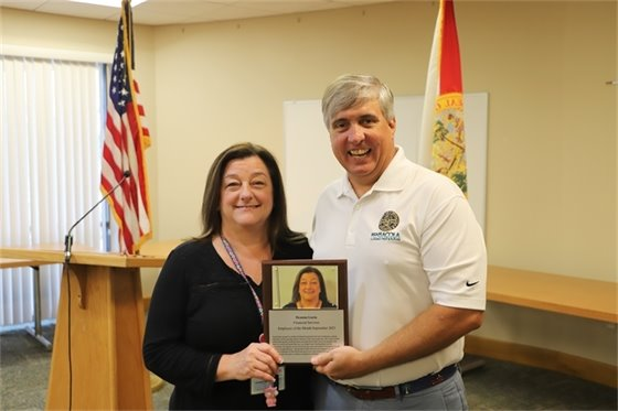 Employee of the Month with Mayor