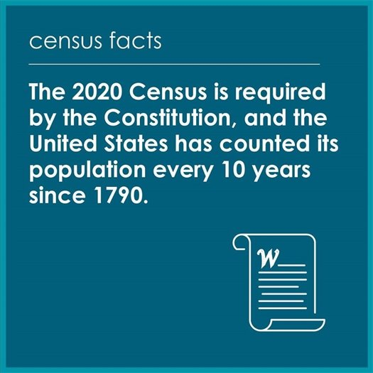 the 2020 census is required by the constitution, and the u.s. has counted its population every 10 years since 1790