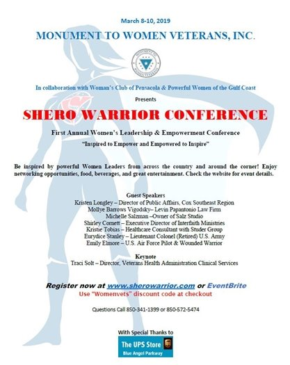 informational flyer on the shero warrior conference