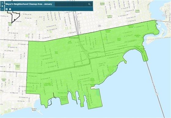 Mayor's neighborhood cleanup map