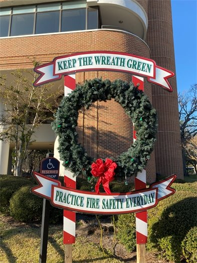 fire safety wreath