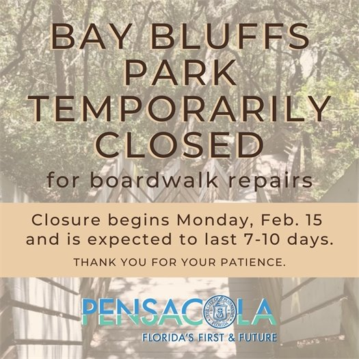Bay Bluffs Park temporarily closed