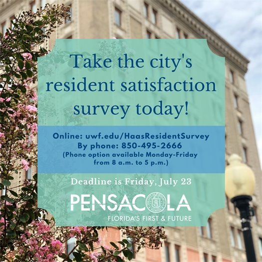 Take the city's resident satisfaction survey today!