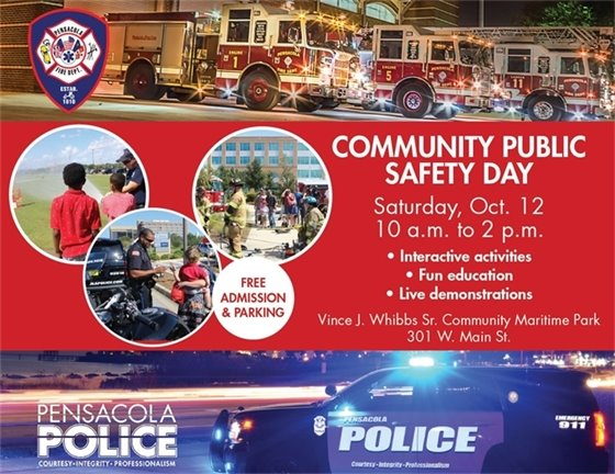 Flyer with details about Community Public Safety Day