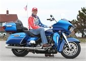 Kyle Petty on a motorcycle