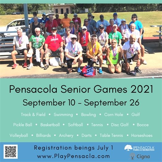 2021 Pensacola Senior Games Flyer