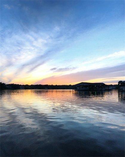 Bayou Texar at sunset
