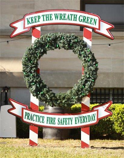 Keep the wreath green christmas wreath